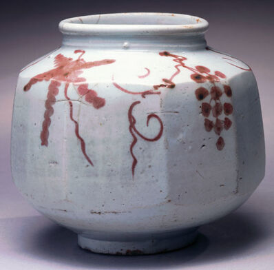 'Faceted Jar with Grapevine Motif ', 1392