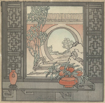 Bertha Lum, 'Chinese Window', 1936