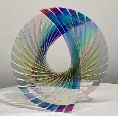 Tom Marosz, ''Baby Tear Starfire Dichroic' Abstract Glass Sculpture', 2020