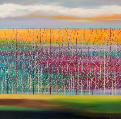Mary Johnston, 'Trees on Teals and Violets', ca. 2018