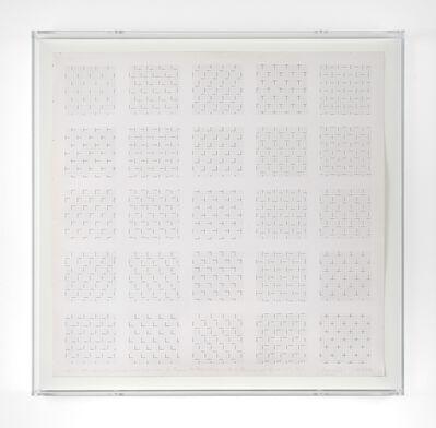 François Morellet, 'Les 24 superpositions possibles de deux trames de tirets, 0° - 90°', 1977