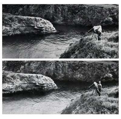 Beaumont Newhall, 'Edward Weston Photographing, Point Lobos, China Cove, CA. (diptych), ', 1940