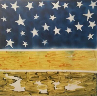 Mario Schifano, 'Paesaggio con le stelle', 1984