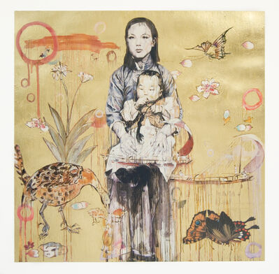 Hung Liu 刘虹, 'Mother and Child - Gold (3/9)', 2020