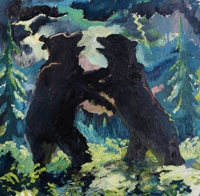 Johnny DeFeo, 'Bears Fighting in a Lightning Storm', 2020