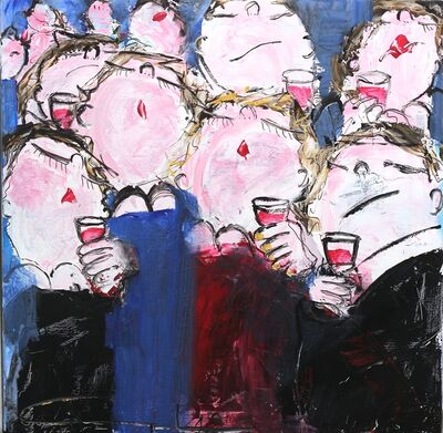 Gerdine Duijsens, 'Party in Blue ', 2018