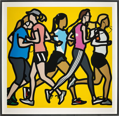 Julian Opie, 'Running Women, from Runners', 2016