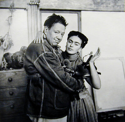 Nickolas Muray, 'Frida and Diego with Gas Mask', ca. 1939