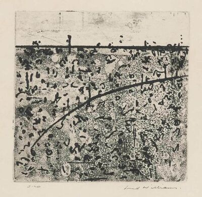 Fred Williams, 'HUMMOCK IN LANDSCAPE', circa 1965