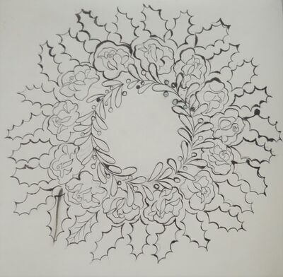 Andy Warhol, 'Untitled (Wreath)', ca. 1956