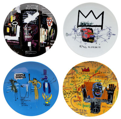 Jean-Michel Basquiat, 'Set of 4 plates', ca 2015