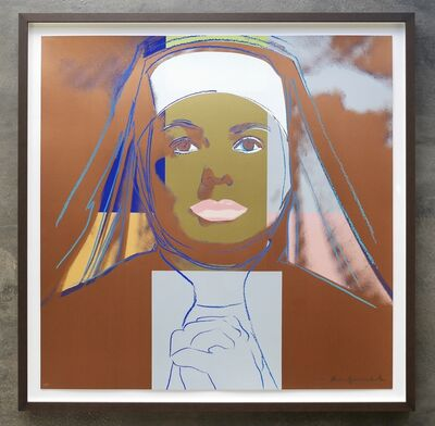 Andy Warhol, 'Ingrid (The Nun) Unique hand signed and numbered Trial Proof', 1983