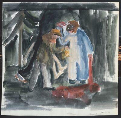 Meret Oppenheim, 'Drei Mörder im Wald', 1936