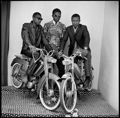Malick Sidibé, 'Friends with moped', 1975