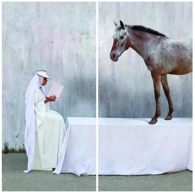 Maïmouna Guerresi, 'White Meeting - Table', 2013