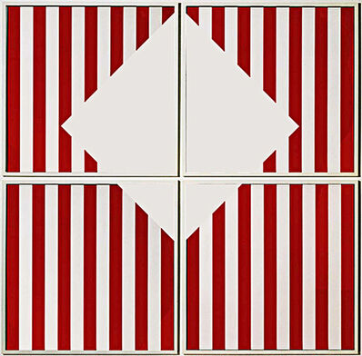 Daniel Buren, 'The Missing Square (4 Panels)', 1989