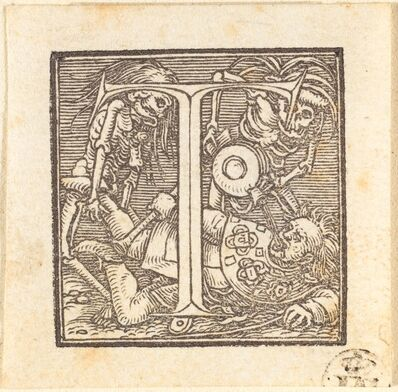 Hans Holbein the Younger, 'Letter T'