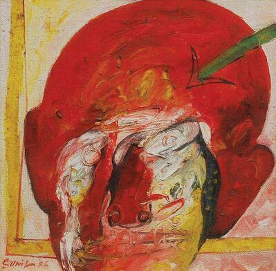 "Sunil Das, 'Head I, Mixed Media on Board by Padma Shree Artist Sunil Das ""In Stock""', 1986"
