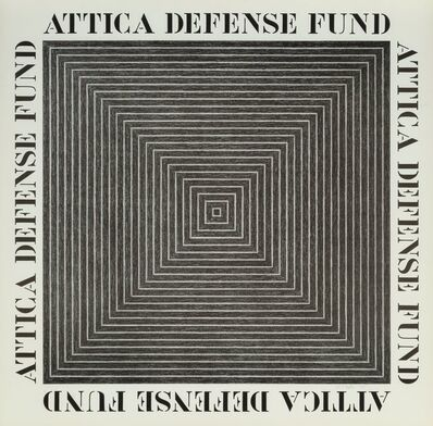 Frank Stella, 'Attica Defense Fund, poster', 197
