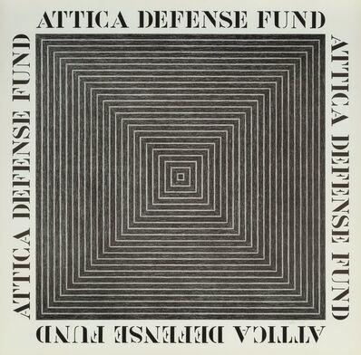 Frank Stella, 'Attica Defense Fund, poster', 197