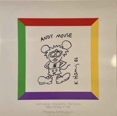 Andy Warhol, 'Keith Haring, Andy Warhol, Walt Disney Museum Poster', 1991