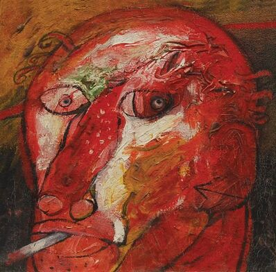 "Sunil Das, 'Head II, Mixed Media on Board by Padma Shree Artist Sunil Das ""In Stock""'"