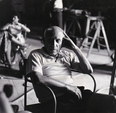 Edward Quinn, 'Picasso seated', ca. 1950