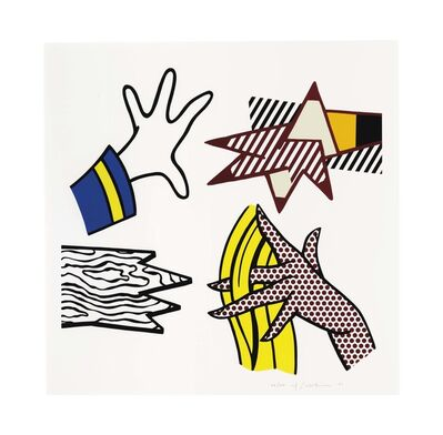 Roy Lichtenstein, 'Study of Hands', 1981