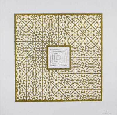 Anila Quayyum Agha, 'Flowers (Pea Green Square)', 2017
