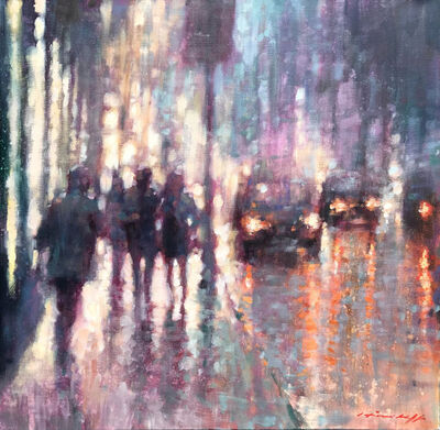 David Hinchliffe, 'Walking in the Rain', 2019