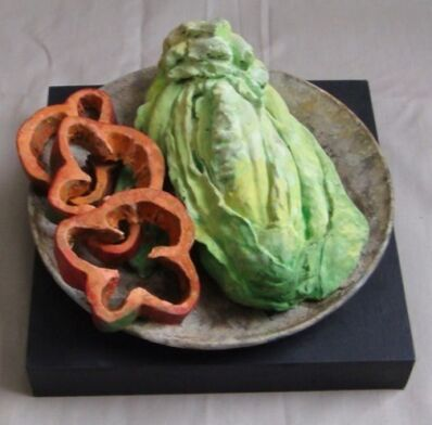 Rafael Muyor, ' plate with lettuce', 2018