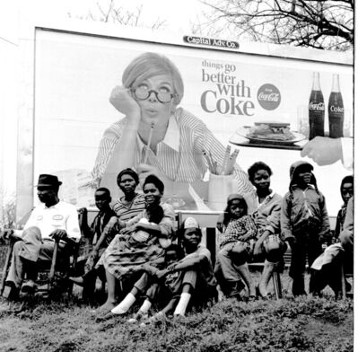 "Steve Schapiro, 'Watching the Selma March, ""Things go better with Coke"", 1965 '"