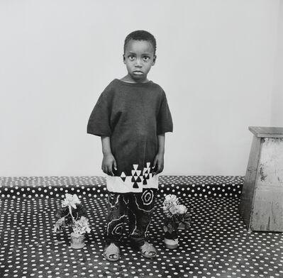Malick Sidibé, 'Studio Portrait, A Child In Love with Flowers', 1975