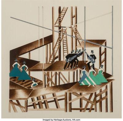 Alexandra Exter, 'Constructivist Stage Set Design for a Jazz Musical', circa 1920