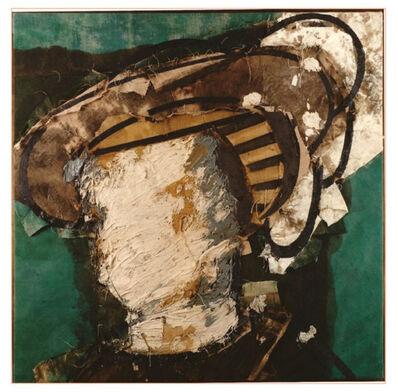 Manolo Valdés, 'Rostro sobre verde', 1997