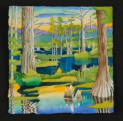 Billy Hassell, 'Cypress Trees, Grassy Lake', 2016