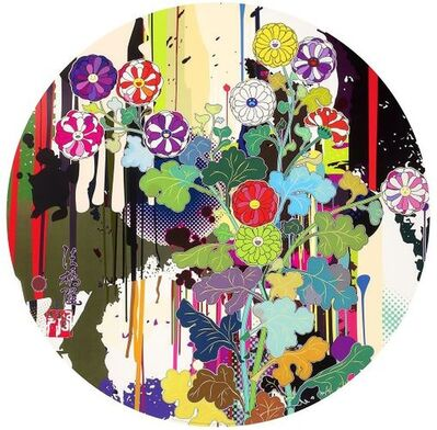 Takashi Murakami, 'I Recall The Time When My feet Lifted Off The Ground Ever So Slightly - Korin - Chrysanthemum', 2009
