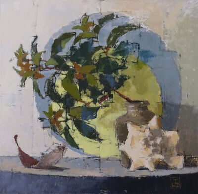 Jill Barthorpe, 'Leaves With Circles', 2018