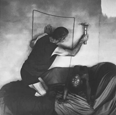 Roger Ballen, 'Les Hammering Into Wall', 2000
