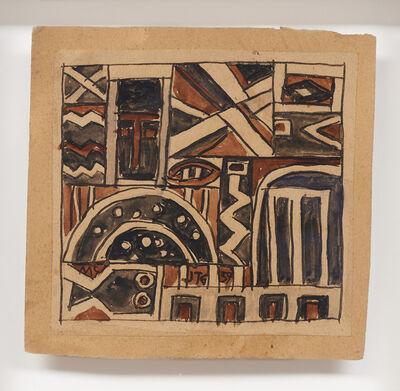 Joaquín Torres-García, 'Constructivo con mascara y pez', 1939