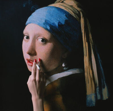 Tyler Shields, 'Girl With the Pearl Earring', 2018