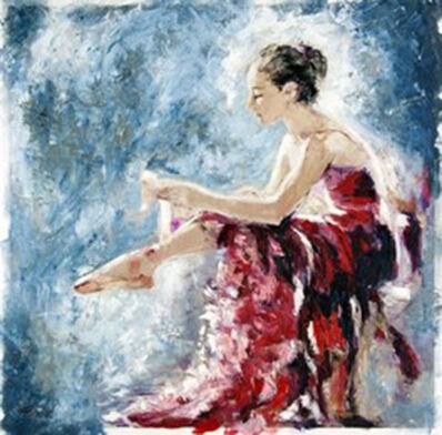 Elena Bond, 'Dancer Tying her Slipper'