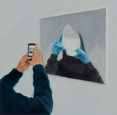 Ruxue Zhang, 'Blue Gloves 4', 2019