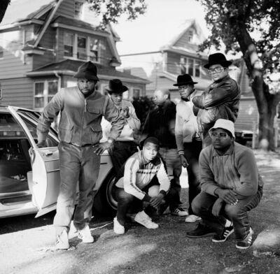 Janette Beckman, 'Run DMC and posse, Hollis, Queens', 1984