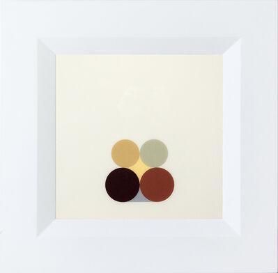 David Cantine, 'Still Life Maroon and Green - bright, abstract minimalist, acrylic on plexiglass', 2002