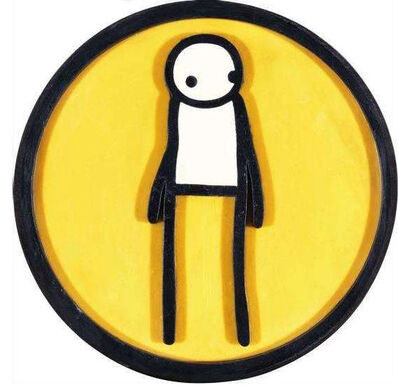 Stik, 'Plaque (Yellow)', 2011