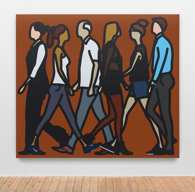 Julian Opie, 'Walking in Hackney 6', 2016