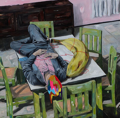 Iqi Qoror, 'Sleeping with Big Banana', 2018