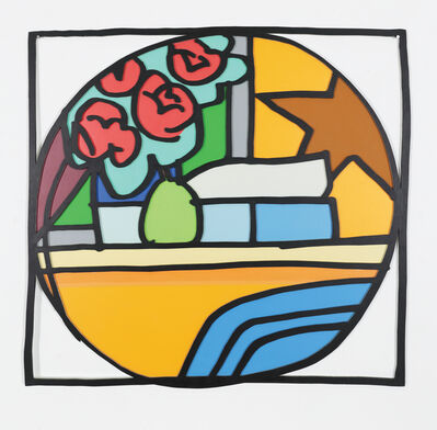 Tom Wesselmann, 'Still Life with Four Roses and Pear (Blue Pillow) (With Black) 1968', 1993