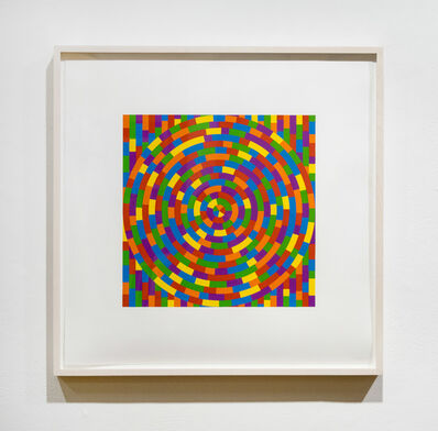 Sol LeWitt, 'Circle with Broken Bands Within a Square', 2003